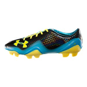 Sports Perforated microfiber upper provides superior breathability, advanced moisture management, and unrivaled lightweight performanceMolded 4D Foam(R) footbed uses forms to the foot for superior comfort and cleat pressure reductionThe bottom layer of the footbed uses UA's Micro G(R) for added support and stabilizationAnti-odor technology prevents the growth of odor-causing microbes to keep your cleats fresher, longerLightweight TPU outsole features a lateral outrigger that delivers exceptional for the constant directional changes that soccer demandsThe lateral outrigger also allows a wider forefoot cleat placement, enhancing underfoot stability - $79.99