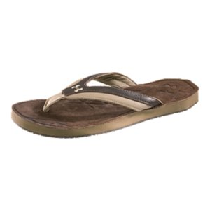 Entertainment Classic three-point pattern with synthetic leather strap for maximum comfort and supportSoft, sculpted suede leather footbed offers cushioned arch supportDurable molded rubber outsole blends traction and cushioned comfortImported - $34.99