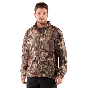 Hunting Built with the serious hunter in mind, the Ayton II Fleece Jacket has a bonded construction with a hard-faced, wind-resistant exterior and a 300-weight sherpa fleece interior, keeping you warm, dry, and focused in the field. Large vent zones unzip along the sides of the jacket (for use with a pack), because conditions in the woods can change rapidly and every hunter needs versatility in their gear. An internal ColdGear(R) cuff blocks the stubborn chill, making sure your prey is the only thing on your mind. And to make sure you are not on your prey's mind, the Ayton II is constructed to be ultra-quiet and comes in RealTree AP(TM) or Mossy Oak Break-Up(R) camo. Unseen. Unheard. Unrivaled. Durable, hard fleece face is wind resistant, for extra protection against whatever Mother Nature throws at youSoft sherpa fleece lining traps heat like a beast, keeping you comfortable in even the coldest conditionsSoft, moisture-wicking interior regulates your core temp to keep you dry, comfortable, and focusedUltra-quiet construction prevents the rustling and sounds of normal clothingFront venting for extra breathabilityColdGear(R) fabric cuffs and lined pockets for added warmth100% PolyesterImported - $104.99