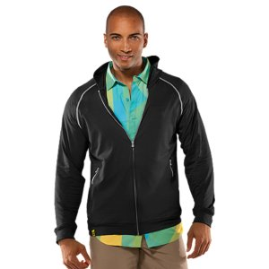 Fitness Ultra-light textured knit fabric allows superior sun and wind protection without the weightLightweight, 4-way stretch construction improves your range of motion and accelerates dry timeSignature Moisture Transport System wicks sweat to keep you cool and comfortableRaglan sleeve construction delivers total mobility while eliminating chafingZippered hand pockets provide secure storagePolyester/ElastaneImported - $59.99