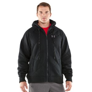 Entertainment Charged Cotton(R) Storm fleece is a best-seller because it's warm, comfortable, and keeps the rain at bay. This hoodie amps up the performance with a thick sherpa lining for the brutal cold. UA Storm gear uses a Durable Water Repellent (DWR) finish to repel water without sacrificing breathability Sturdy 265g cotton-blend fleece with allover quilting to trap extra heat without extra bulkHigh-loft sherpa lining matches superior warmth with extreme comfortSignature Moisture Transport System wicks sweat away from the bodyDurable ribbed cuffs and hemWarm hand pocketsBody: Cotton/PolyesterLining: PolyesterImported - $118.99