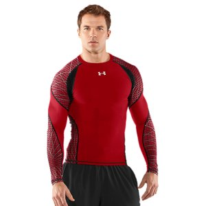 Fitness On the field and on your game, the UA Warp Speed baselayer uses advanced compression to keep you primed and powerful. Smooth flatlock seams, signature sweat-wicking comfort, and strategic mesh ventilation keep you focused. From elite training to everyday performance, keep your game tight. Smooth HeatGear(R) fabric is durable and soft, providing chafe-free comfort Metallic HeatGear(R) adds power-boosting compression for your musclesMesh back dumps heat and allows superior airflow4-way stretch fabrication allows greater mobility and maintains shapeSignature Moisture Transport System wicks sweat away from the body Anti-odor technology prevents the growth of odor causing microbesRaglan sleeve construction and flatlock stitching allow a full range of motion without chafing 5.0 oz. Polyester/ElastaneImported - $33.99