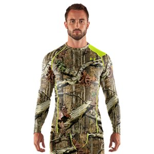 Hunting Let's be clear: these aren't your grandpa's long underwear. The UA Base(TM) 2.0 thermal crew is warmer, lighter, and drier. That's elite performance you can take off-road It's the unique negative grid that traps monster warmth and wicks away sweat. UA's exclusive Scent Control also keeps you undetected with advanced odor-destroying technology. It puts traditional carbon scent blockers to shame by lasting 10x longer, being lighter, and keeping you more mobile. Be more than a hunter...be a predator. Exclusive UA Scent Control technology lasts longer and works better, keeping you undetectedUA Base(TM) 2.0 is highly versatile mid-weight protection for colder conditions and a variety of activity levelsSoft, brushed negative grid interior traps hot air, providing superior warmth 4-way stretch fabrication allows greater mobility and maintains shapeSignature Moisture Transport System wicks sweat away from the body Quick-dry fabrication keeps you light and comfortableAnti-odor technology prevents the growth of odor causing microbes, keeping your thermal underwear fresher, longerRaglan sleeve construction and flatlock stitching allow a full range of motion without chafing 4.7 oz. Polyester/ElastaneImported - $49.99