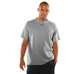 Fitness WHY WE MADE IT: When we burst onto the football field in '96 with our game-changing answer to old-school T-shirts, we called it Performance Grey. We only made it in one color, one loose fit, and a smooth, light feel. It became a must-have for athletes in all kinds of sports. Because it was simply better. And because you demanded it. Now it's been transformed into our #1 essential. The UA Tech(TM) T-shirt-stretchy, sweat-wicking, and tight, without the squeeze of compression. Our Men's UA Tech(TM) Short Sleeve T-shirt gives you the UA performance you count on. Want an edge in your game? Grab the shirt that made ordinary cotton T's obsolete. This essential Under Armour(R) T-shirt lives in gyms, at practices, and on fields all over the world. Our UA Tech(TM) fabric stretches for complete mobility. And to keep that range of motion chafe-free, the raglan sleeve construction keeps the seams off your shoulders, eliminating abrasions. It also regulates your body temperature and wicks moisture to keep you dry and light when you're game heats up. No distractions, only performance. Grab your team colors and bring your game. Ideal for team sports, with logo placement and colors specifically made to add team pride to UA performanceSpun poly UA Tech(TM) fabrication feels softer and more naturalLightweight, 4-way stretch fabrication improves range of motion and dries fasterSignature Moisture Transport System wicks sweat to keep you dryRaglan sleeve construction prevents chafingUA logo on center chest shows your preference for performancePolyester/ElastaneImported - $16.99