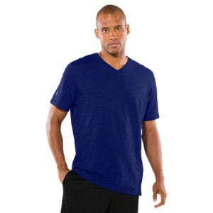 Entertainment Lightweight quick-dry cotton with a slightly textured, striated finish for a unique look, extreme comfort, and UA performanceSignature Moisture Transport System wicks sweat away from the body, keeping you cool, dry, and focusedDurable ribbed V-neck collar provides a comfort fitTonal UA logo on sleeve and wordmark on back of neckCottonImported - $19.99