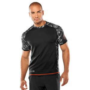 Fitness Ultra-lightweight HeatGear(R) fabric allows the elite athlete superior mobility Unique dual-weight thread helps push moisture out to the surface fast, keeping you lighter and drierErgonomic design provides an ideal fit and a specialized, athletic cutStrategically placed hex-mesh inserts and back panel provide enhanced breathabilityAnti-odor technology prevents the growth of odor-causing microbes, keeping your gear fresher, longerTurbo print insets add performance stylePolyesterImported - $49.99