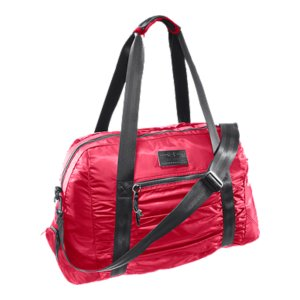 "Fitness Large main compartment gives this gym bag ample storage, for a workout, workday, or weekend2 sets of straps allow you to carry as a duffel or a toteSpecially lined, heat-safe pocket stores styling tools without risking damage to your gearRemovable shoe bag stores your shoes separate to keep your gear freshVinyl toiletry pocket with UA hair tie ring stores all your make-up must-haves separately for easy accessSoft, lined internal media/valuables pocket delivers secure, scratch-free storageEasy pull front pocket for extra organizationExterior straps hold your fitness mat so you don't have toEmbossed logo patch and feminine ruched details deliver superior style in and out of the gym Dimensions: 12"" x 21.75"" x 9.5"" with 10.5 "" strap dropCubic Volume: 2200Polyester/NylonImported - $69.99"