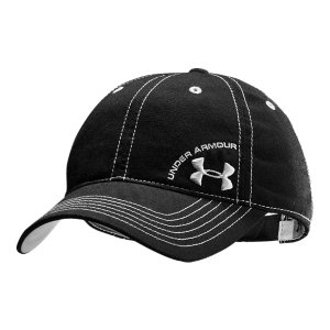 Entertainment Adjustable ball cap has an unstructured fit for relaxed custom comfortCustom UA adjuster in the back of hat for the perfect fitSmall UA logo embroidered on front left panel makes a subtle-but-serious statement100% Polyester TwillWomen's one size fits allImported - $14.99