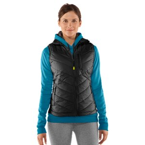 Fitness This season's perfect layering piece, this slimmer fit puffer vest was built with a ton of performance features to keep you safe when the weather turns. Seriously warm 200g ArmourLoft(R) insulated body, a super-furry stand collar to tuck in to, modern chevron quilting, and shaped hem for a more feminine finish. Zip on over your favorite performance longsleeve and get working. Lightweight gridded shell delivers superior comfort and durabilityUA Storm technology repels water but stays soft & breathable for superior comfortSuper-light 200g ArmourLoft(R) insulation keeps you warm without weighing you downModern chevron quilting for a slimmer silhouetteStandup collar with super-plush Sherpa liningShaped hem for the perfect coverage from the coldPlaid taffeta liningZippered hand pockets and audio chest pocketPolyesterImported - $96.99
