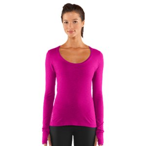 Fitness Ultra-comfortable cotton blend for the softest next-to-skin comfortLightweight, 4-way stretch construction improves mobility and maintains shapeSignature Moisture Transport System wicks sweat to keep you cool, dry, and lightDries faster than ordinary cotton yoga clothingDeep scoop neck for a elegant, yet athletic finishExtended length provides greater coverageThumbholes allow for added coverage and warmthRolled side seams to eliminate uncomfortable rubbing and chafingSatin inside back neck tape for a luxurious finishLyocell/Cotton/ElastaneImported - $36.99