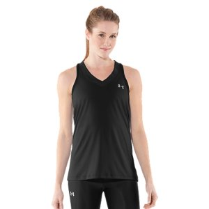 Fitness WHY WE MADE IT: Looking for a top that feels soft but works crazy hard? Meet our brand new UA Tech&trade Sleeveless Tank. It's got the same UA performance perks you love-hard-working poly fabric, ultra-mobile 4-way stretch construction, and super-quick moisture wicking technology-but the fabric's been re-engineered to feel softer, lighter, and more comfortable than ever. So if you want that extra edge in your game, grab the shirt that makes ordinary cotton T's obsolete. Meet the all new Women's UA Tech(TM) Sleeveless Tank. We updated the fit for a more streamlined silhouette, made it softer for superior all-day comfort, lightened it up for even faster performance, and added anti-micorbial technology to keep it (and you) smelling fresher, longer. BUt all the essentials have stayed the same. It's still got moisture-wicking fabric. It still regulates your body temperature no matter how hard you're training. And it still comes in just about every color you can think of. Pick yours, and get to work. New, ultra-lightweight UA Tech(TM) fabric has a softer, more natural feel, for unrivaled comfort and performanceAnti-odor technology prevents the growth of odor-causing microbes, keeping your gear fresher, longerSuperior Moisture Transport System wicks away sweat to keep you cool, dry and lightDeep V-neck design delivers enhanced breathability and a more feminine finishPolyester/ElastaneImported - $18.99