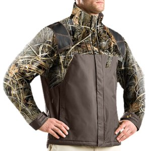 Hunting ArmourStorm(R) 100% waterproof fabrication remains breathable to keep you completely dryFleece lining is warm, comfortable, and contains our signature Moisture Transport System to keep you dry and focusedUA shooting shoulders have a grip surface to prevent your gun from slippingFully taped seams create complete protection from external moistureHand pockets are fleece-lined, delivering extra warmthMagnetic storage pocket to give you easy access to your gearUpper: NylonLower: PolyesterImported - $159.99