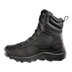 "Fitness The UA Tactical Side Zip boots deliver all the performance you come to expect from UA, designed specifically for the needs of those in uniform. From the full grain leather to the ballistic mesh, these boots are built for battle. The ETCA(R) Anti-Friction Lining and Molded OrthoLite(R) sockliner keep you comfortable in the field. The boots that help you gear up fast and perform in any situation. Full grain leather can be polished to hold a shine and provides unrivaled durability for the fieldBallistic mesh panels deliver breathability and superior comfortYKK side zip for easy on/off accessMolded OrthoLite(R) sockliner cushions your foot and keeps your foot locked inAnti-odor technology prevents the growth of odor causing microbesETC(R) Anti-Friction Lining prevents rubbing on the foot, as well as wicking moisture Molded thermoplastic heel clip provides support and stabilityTPU shank in arch for support without the added weight Aggressive traction rubber outsole is engineered to grip, without building up mud and debrisPush-through protection plate keeps your foot safe from hazardsWeight:  19.2 oz.Height: 7.5"" - $119.99"