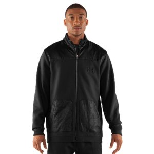 Fitness You've played in the rain. You know a heavy, soaked jacket does nothing but weigh you down. Not our popular Charged Cotton(R) Storm fleece. It's got that fleece comfort you want, with UA Storm technology to block out the rain. UA Storm gear uses a Durable Water Repellent (DWR) finish to repel water without sacrificing breathability Charged Cotton(R) adds quick-dry performance to the soft comfort of cotton Sturdy 305g cotton-blend fleece has a smooth outer and a soft, brushed inner to trap warmth Embossed overlays over hand pockets and across the neck and shoulders Signature Moisture Transport System wicks sweat away from the body Durable ribbed cuffs and hemWarm hand pocketsBody: Cotton/PolyesterOverlays: PolyesterImported - $67.49