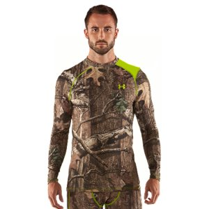 Hunting Exclusive UA Scent Control technology lasts longer and works better, keeping you undetected.  UA Catalyst fabric built from recycled materials for low environmental impact and superior durability.  Smooth anti-pick, anti-pill fabric maximizes comfort and has a cleaner, snag-free finish.  Signature Moisture Transport System wicks sweat away from the body.  Quick-dry fabrication keeps you light.  50+ UPF protects your skin from the sun's harmful rays.  Raglan sleeve construction allows for full range of motion without chafing.  Recycled Polyester.  Imported. - $33.99