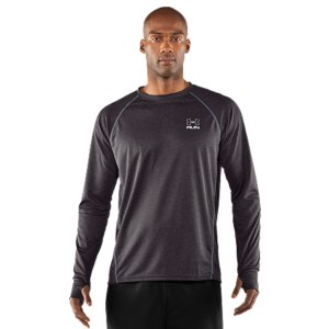 Fitness When you're racking up the miles, you can't let discomfort stand in your way. So UA Run made a long sleeve T-shirt that gives you the performance features you need to keep going-and none of the weight to hold you back. Ultra-lightweight materials, stretch, thumbholes, breathability, reflectivity, and low-abrasion construction come together in something more than a T-shirt. It's run gear. Subtly textured, lightweight fabric delivers superior breathability and durability4-way stretch fabrication allows greater mobility and maintains shapeSignature Moisture Transport System wicks sweat away from the body Anti-odor technology prevents the growth of odor causing microbesPerformance thumbholes keep your sleeves firmly in place Raglan sleeve construction and flatlock stitching allow a full range of motion without chafingGraphics and logos provide 360deg reflectivity for safer low-light trainingDrop hem provides extra coverage on the movePolyester/ElastaneImported - $19.00