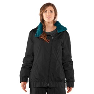 Ski Perfect for the ladies who want to tackle a monster mountain without looking like a Yeti, this little riding jacket crushes the cold without sacrificing your style. The secret's in the super lightweight ArmourLoft(R) insulation, asymmetrical front zip, and slimming princess seams. And no self-respecting snow coat would be complete without a 100% waterproof, highly breathable ArmourStorm(R) construction, powder skirt, goggle pocket, and pass ring. Just add snow. Durable, textured denim-like melange fabric stands up to the hill and the trailFully taped seams100% waterproof, breathable ArmourStorm(R) construction with 10,000mm/10,000g rating to keep you seriously drySuper-light ArmourLoft(R) insulation keeps you warm without weighing you downRECCO(R) avalanche rescue reflectorFixed powder skit and jacket-to-pant interface keep you covered in the coldFully lined 3-piece hood with super furry collar lining Pit venting to keep you comfortable in your ski jacketTons of secure pockets to stash your stuff, plus goggle and audio pocketColdGear(R) cuffsShell: Nylon/ PolyesterLining: PolyesterInsulation: Poly Microfill (100g Body/60g sleeves)Imported - $137.49