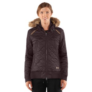 Entertainment Durable, ripstop-inspired recycled poly shell with classic quilting detail Wind/water resistant technology blocks the elements to help regulate your core temp200g PrimaLoft(R) insulation for extreme warmth without feeling weighed downLightweight construction keeps you mobileDetachable 3-piece hood with removable fur trim and 2-snap stand-up collarRibbed cuffs, collar, and hem detailStacked zippered hand pockets 100% Recycled PolyesterImported - $112.99
