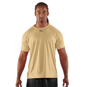 Fitness UA Tech(TM) fabric with an ultra-soft, natural feel for unrivaled comfort.  Signature Moisture Transport System wicks sweat away from the body.  Anti-odor technology prevents the growth of odor-causing microbes.  Raglan sleeve construction and flatlock stitching allow a full range of motion without chafing.  Polyester.  Imported. - $22.99