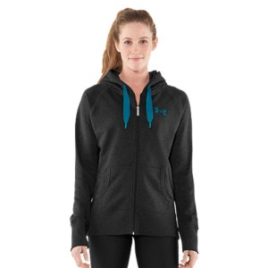 Fitness We took your favorite cotton full zip and armed it with UA Storm technology. What's UA Storm? It's a seriously water-resistant finish that keeps rain from seeping in and slowing you down. Kind of like a raincoat and a hoodie got together to create one supercharged, weather-defying sweatshirt. Never be at the mercy of Mother Nature again. Only you can dictate how, where, and when you train. Unique Charged Cotton(R) fleece is our softest, most comfortable fabric yetUA Storm technology repels water but stays soft & breathableSoft, brushed interior traps heat to keep you warm without the bulkSignature Moisture Transport System wicks sweat to keep you dry and lightLightweight stretch construction improves mobility Raglan sleeves unlock mobility for serious range of motion Low-profile 3-piece hood with tonal waffle lining for extra warmthExaggerated ribbed cuffs and hemClassic front kangaroo pocket Body: 80% Cotton/20% PolyesterHood Lining: PolyesterImported - $44.99