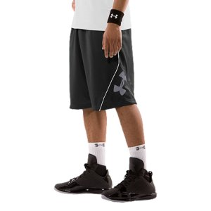 "Sports Soft and smooth HeatGear(R) fabric delivers optimal comfort on the courtSignature Moisture Transport System wicks away sweat to keep you drier and coolerStretch waistband with internal drawstring provide adjustable comfort and a secure fitDazzle pinstripe catches the light for a little extra swaggerSide seam pocket hold your stuffUA logo and woven UA label show your preference for performanceGenerous 12"" inseam keeps you loose6.45 oz. PolyesterImported - $29.99"