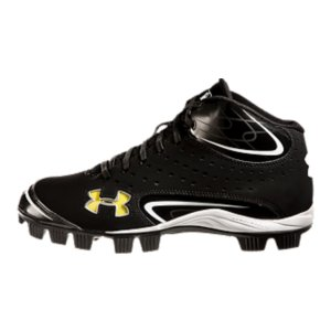 Sports Rotational Traction rubber molded cleat configuration optimizes rotational capability for maximum acceleration and powerUA-engineered leather and perforated nubuck upper gives you breathable durability3/4-length ArmourBound(R) midsole cushions, absorbs shock, and spreads force for improved comfortUA Color Card system lets you change UA logo to your team's color by simply inserting a cardMesh tongue lets feet breathe, keeping them cool and lightTough abrasion-resistant toe piece protects your foot and your cleatsImported - $36.99