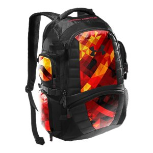 "Camp and Hike Backpack with large main compartment to fit lacrosse equipmentExterior webbing loops for lacrosse sticksAdjustable padded shoulder strapsGraphic print panelsCustom 88 card for team numbers/initials identificationDimensions: 20"" x 9"" x 14""Imported - $69.99"
