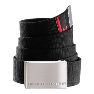 Fitness Metal buckle gives you that secure, comfortable fitDurable cotton canvas stays as tough as you areDebossed Under Armour(R) script on buckleCotton CanvasImported - $29.99