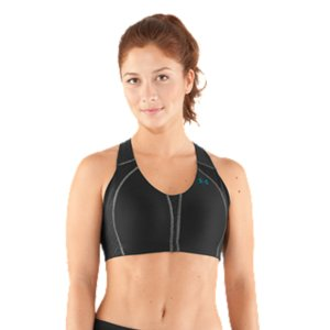 Fitness WHY WE MADE IT? Did you know that as many as 7 out of 10 women wear the wrong sports bra? One that's either too loose, too tight, or doesn't deliver the right amount of support for their silhouette. It's not only uncomfortable-it kills your focus. Focus you need for a good workout or a great game. So we went straight to the source for answers. We spoke with athletes. We worked with Dr Joanna Scurr, the foremost authority on biomechanics of the female body. And we tested hundreds of prototypes in fit sessions and workouts until we got every detail right. How it fits. How it feels. How it works. Even what it looks like. The all-new Armour BraA(R) allows athletes to feel confident, look beautiful, and perform better. Digging, bouncing, and permanent damage-breast pain isn't picky about size, ladies...it happens to all of us. So whether you're an A or a DD, the right support is paramount to a pain-free workout. We worked with Dr. Joanna Scurr, the authority on biomechanics of the female body. Talked with every day athletes just like you, and tested hundreds of prototypes. The result is the revolutionary Armour Bra(R), sized to fit both band and cup for the perfect performance fit-even for B-cups. No more excuses. No more compromises. And, most importantly, no more pain and potential damage. That's a beautiful thing.A heads-up on bright colors:You may experience color transfer with some of our boldest styles. Cut down on this by washing before first wear. Continue to wash on cold with similar colors. Bonded seams eliminate painful rubbing and chafingRemovable, molded cups deliver modesty, support, and a streamlined silhouetteStraps built with UA's SuperStretch technology that eliminates diggingUltra-soft, sturdy fabric feels smooth and comfortable against your skinSignature UA Compression fabric lets you concentrate on your moves, not what's movingNext generation power sling construction cradles for superior support that stays put4-way stretch construction improves range of motion and dries fasterSignature Moisture Transport System wicks sweat away from the bodyClassic pull-over racer back with soft hook and eye closure for customized fitStrategic mesh venting for enhanced ventilationBuilt specifically for B-cup fit and performanceNylon/ElastaneImported - $34.99