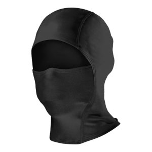Entertainment WARNING!  This product will melt when exposed to extreme heat or open flames, posing a risk of serious injury where melted product comes into contact with skin!Balaclava-style face mask offers full head and facial protection, extending below the neckline for extra coverageHood converts to a neck gaiter with a drop chin for versatility and ventilationLightweight, fast-drying fabric keeps your whole head cool and dry, even when the weather's notStealth UA logo allows for use with a uniformImported - $24.99