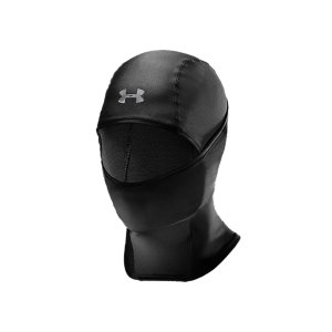 Entertainment True athletes know extreme Winter cold shouldn't get in the way of performance. So we created a hood and face mask that offers unrivaled protection in the deep freeze. Built from our signature ColdGear(R) fabric, the UA ColdGear(R) Hood offers maximum, form-fitted comfort on its own or beneath a helmet. Designed to keep you warm, dry, and light, it offers full facial protection that extends below the neckline. It even converts to a neck gaiter with a drop chin for full ventilation. Because the game never takes a backseat to Mother Nature-and neither should you. Form-fitting balaclava-style hood delivers comfort on its own or beneath a helmetDouble-knit fabric will keep you warm, dry, and light when the mercury dropsOffers full facial protection in extreme cold that extends below the necklineConverts to a neck gaiter, with a drop chin for full ventilation and added versatilityMen's one size fits allPolyester/ElastaneImported - $17.99