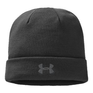 Fitness UA's warm, light & dry men's beanie with colors that match back to your team. Show your loyalties. Soft knit fabric provides superior comfort and lightweight performanceColdGear(R) lining is soft to the touch and adds superior warmthSignature Moisture Transport System  wicks sweat away from the bodyBody: AcrylicLining: Polyester/ElastaneImported - $24.99
