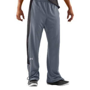 Sports Between games, on the bus, or on the town-warm-ups are your go-to. All you need is a lot of performance...and a little flash. These pants are going to exceed your expectations on both.  You have transitional pants with the features you need and UA Basketball's signature tickertape piping that gives a nod to UA colleges. Double knit, rib-textured fabric is ultra-durable and substantialSignature Moisture Transport System wicks sweat away from the bodySide mesh pocketsTickertape piping inspired by UA colleges6.8 oz. PolyesterImported - $48.99