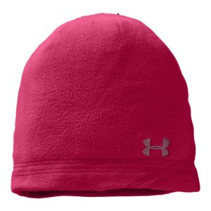 Fitness Beanie with ultra-brushed EVO ColdGear(R) lining is super soft and warm so you can withstand the cold in comfortForm-fitting microfleece hat hugs your head and stays putEmbroidered contrast-color UA logo so they know where you standWomen's one size fits all100% Polyester Fleece - $24.99