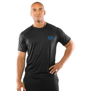 Fitness Lightweight UA Tech(TM) fabric has a softer, more natural feel for superior comfort4-way stretch fabrication improves mobility, while helping to maintain shapeSignature Moisture Transport System wicks sweat away from the body, keeping you cooler and drierRaglan sleeve construction and smooth flatlock seams enhance range of motion and prevent chafing4.6 oz. Polyester/ElastaneImported - $24.99