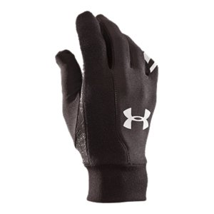 Fitness Your ultimate go-to gloves. Stretch, warmth, and comfort all in one spot. Double-knit ColdGear(R) fabric delivers maximum warmthLightweight, form-fitting construction maximizes breathability and athletic mobilitySignature Moisture Transport System wicks sweat away from your handsSoft, microfiber nose-wipe panel is gentle on your faceHigh-friction glove areas are seam-free to reduce chafingDurable, wind-resistant outerAnti-odor technology prevents the growth of odor-causing microbes50% Nylon, 47% Polyester, 3% SpandexSold in pairsImported - $14.99