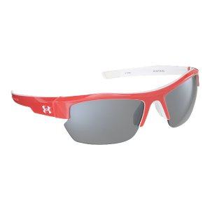 Fitness The UA Igniter Pro Sunglasses offer the same benefits of our original UA Igniter Sunglasses, but with even more coverage. These are some pretty serious shades. Built with our ArmourSight(R) lenses for 20% more undistorted peripheral vision and ArmourFusion(R) frames for an ultra-lightweight feel, these sports sunglasses are perfect for every athlete-on field and off. The UA Igniter Pro also features an adjustable nosepad, cushioned hinges, and 3-point grip for extra stability when things get serious. Now available in team colors. Multiflection(TM) lens coating eliminates visual obstructions by repelling water and resisting scratching, smudging, and stainingArmourSight(R) lenses deliver up to 20% enhanced vision edge to edge, and are up to 10X stronger than ordinary polycarbonate lenses for ultimate durability and performanceBuilt with 3-point grip and soft, adjustable nosepad to ensure a secure comfort fitAdvanced cushioned hinge absorbs shock so you can keep moving without distractionAll Under Armour(R) Performance Eyewear lenses block 100% of UVA, UVB, and UVC raysImported - $99.99