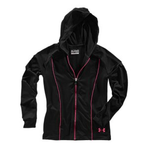 Fitness Soft, stretch knit fabric is perfect for layering for an extra level of protectionSignature Moisture Transport System wicks sweat to keep you dry and lightLightweight, 4-way stretch construction improves mobility and accelerates dry timeSelf hem cuffs and collar with full zip front Athletic piping detail on front and backPolyester/ElastaneImported - $33.99