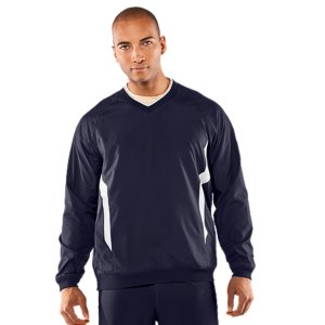 Sports Lightweight, ultra-durable, AllSeasonGear(R) fabric built to take on even the toughest conditionsDWR (Durable Water Repellent) finish makes this jacket highly water resistant, keeping you protected no matter what Mother Nature throws at youSignature Moisture Transport System keeps you dry and comfortableStretch rib cuffs and drawcord waist provides a comfortable fit and securely blocks out the elementsTraditional baseball v-neck jacket with side pockets and drawcord bottom, for use on and off the field2.0 oz. PolyesterImported - $40.99