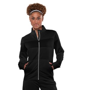 Fitness Designed for the female athlete who lives to train and work out, the UA Hero Full-Zip Warm-Up Jacket keeps you looking good while you do. Stand-up collar for warmth, extra wide cuffs and hem for superior fit, unique contrast color band that extends through right arm, and full zip for easy on and off versatility. But the UA Hero Full-Zip Jacket isn't just appearances. It has substance too. Its signature AllSeasonGear(R) 4-way stretch construction and Moisture Transport System keep you dry, light, and comfortable any time of year. Interlock knit fabric is smooth and stretchy, for perfect comfort on the field, in the gym, or out on the townLightweight, 4-way stretch construction improves mobility and accelerates dry timeAdvanced Moisture Transport System keeps you dry, light, and comfortable in between the extremesAnti-odor technology prevents the growth of odor-causing microbes to keep your gear fresher, longerFront kangaroo pocket provides warmth and storageLarge logo on left arm and contrast zipper4.6 oz. Polyester Interlock KnitImported - $49.99