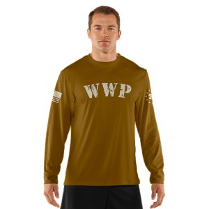 Fitness Our Wounded Warrior Project(TM) T-shirts are more than a nod to men and women in uniform-they help support the program and assist those who have sacrificed so much for our country. This is an Official Wounded Warrior Project Licensed productBetween August 2012 and December 2015, Under Armour will make a donation of over $2 million to WWP, benefiting injured service members and their familiesLightweight Charged Cotton(R) has the comfort of cotton, but dries much fasterSignature Moisture Transport System wicks sweat away from the body Anti-odor technology prevents the growth of odor causing microbesDurable ribbed collar provides a comfortable fitCotton/PolyesterImported - $32.99