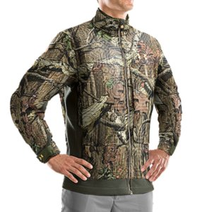 Hunting Among other things-like stealthy fabric and heat-holding, quick-dry technology-the camouflage Men's Capture Hunting Jacket is armed with UA Capture(R) technology. It traps your scent in the fabric and keeps odor-causing bacteria from multiplying. Game prey have an incredibly heightened sense of smell. They can detect things farther, faster, and better than even the most seasoned outdoorsman. This jacket is your defense...and your offense. Stay focused. Stay undiscovered. Make your move. UA Capture(R) technology suppresses scent with a polymer-treated inner lining that traps odors before they can be detectedUltra-quiet fabrication with strategically placed 4-way stretch material for superior stealthBrushed fleece interior is soft to the touch and traps heat like a beast, so you can concentrate in the fieldAdvanced moisture management technology and fast-drying fabrication keep you drier, longerZippered pockets for secure storage and added hand warmth100% PolyesterImported - $99.99