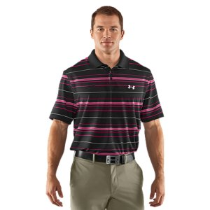 Golf At UA, we only make gear that makes you better. But this PIP polo takes things a step further. A portion of the proceeds goes toward fighting breast cancer. The UA Power In Pink(TM) program not only benefits survivors, but helps raise awareness for the cause. This golf polo supports the UA Power In Pink(TM) program-a portion of all proceeds are donated to national breast cancer charities and medical centersSoft, lightweight fabric delivers superior comfort on the links4-way stretch fabrication allows greater mobility and maintains shapeSignature Moisture Transport System wicks sweat away from the body Anti-odor technology prevents the growth of odor causing microbes30+ UPF protects your skin from the sun's harmful raysFlat knit collar provides a clean, classic lookDurable 3-button placket Body: Polyester/ElastaneCollar: PolyesterImported - $48.99