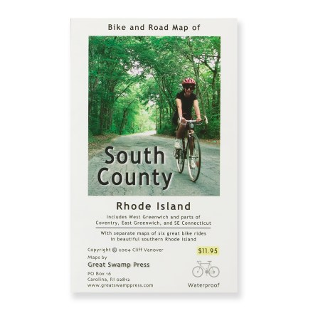 Fitness Slip this handy map in your pocket for biking adventures throughout southern Rhode Island. - $5.93