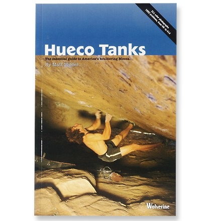 Climbing Written by Hueco guide Matt Wilder, who has spent the last 7 winters researching this book which covers all of the bouldering in the entire Park. Author: Matt Wilder. Softcover; 288 pages; color photos with route overlays, topos, location maps. Wolverine Publishing; copyright 2004. Documenting nearly 1,700 problems from V0- to V14. Book has sections covering the geology, wildlife, natural, cultural and climbing history of Hueco Tanks. Inspirational essays by Fred Nicole, John Sherman, Todd Skinner, Liv Sansoz and Scott Milton motivate you to grab your crash pad and head out. Supplies all the beta on Hueco's new rules and regulations. Printed in color, it features over 300 photographs showcasing almost every area in the park. - $32.95
