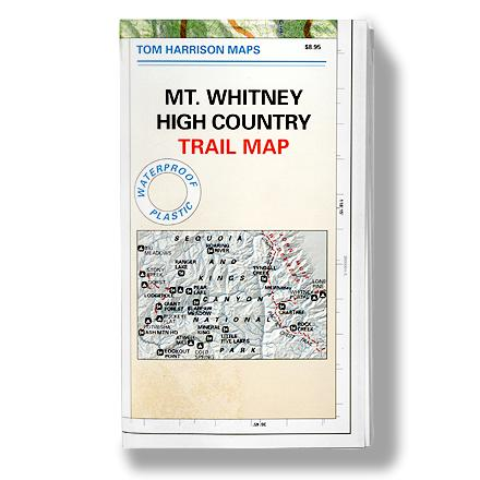 Camp and Hike Durable, waterproof trail map for the Mt. Whitney high country of Sequoia and Kings Canyon National Parks. - $10.95