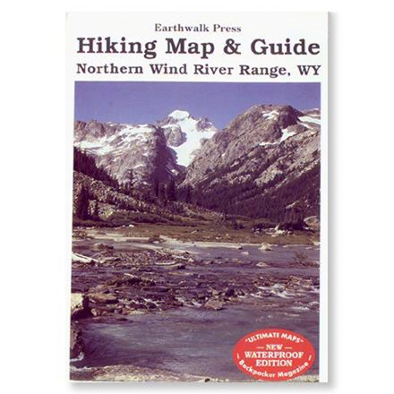 Camp and Hike Double-sided topographic map covering the northern half of the Wind River Range from Union Pass, WY to Elkhart Park - $9.95
