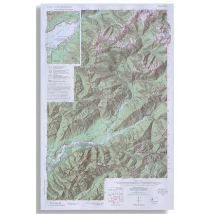 Olympic National Park topographic map scale 1:62 500 - $5.58