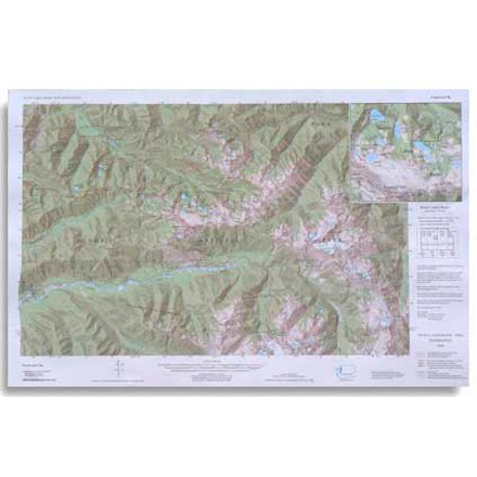 Covers the Seven Lakes Basin area ranging from Slide Peak to Hurricane Hill - $5.58