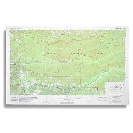 Features topographic detail of the Bogachiel River valley as well as the lower Hoe River drainage - $1.93